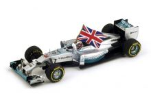 "Spark Model S3142 Mercedes F1 W05 Hybrid #44 ""Lewis Hamilton"" winner Grand Prix of Abu Dhabi 2014 F1 2014 World Champion"