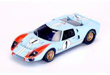"""Spark Model S4075 Ford GT Mk II #1 """"Ken Miles - Denny Hulme"""" 2nd pl Le Mans 1966"""