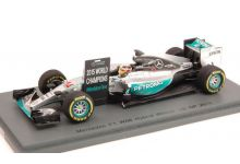 "Spark Model S4622 Mercedes W06 #44 ""Lewis Hamilton"" Winner US GP & F1 World Champion 2015"
