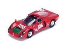 Spark Model S4874 Alfa Romeo 33/2 #186 'Ignazio Giunti - Nanni Galli' 2nd pl Targa Florio 1968