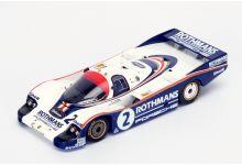 Spark Model S4756 Porsche 956 #2 Rothmans 'Jochen Mass - Vern Schuppan' 2nd pl Le Mans 1982