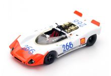 Spark Model 43TF69 Porsche 908/02 Spyder #266 'Gerhard Mitter - Udo Schutz' Winner Targa Florio 1969