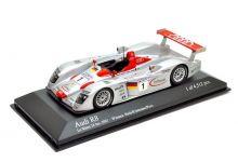 Minichamps 400011201 Audi R8 #1 'Frank Biela - Tom Kristensen - Emanuele Pirro' winner Le Mans 2001