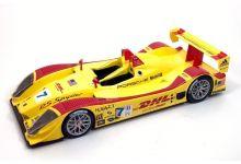 Norev 187516 Porsche RS Spyder #7 DHL 'Patrick Long - Romain Dumas - Timo Bernhard' 12 hrs of Sebring 2006