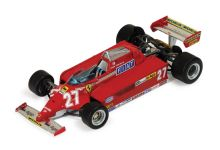 "IXO Models SF28/81 Ferrari 126CK #27 ""Gilles Villeneuve"" winner Spanish Grand Prix 1981"