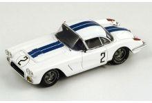 Spark Model S1538 Chevrolet Corvette #2 'Richard 'Dick' Thompson - Fred Windridge' Le Mans 1960