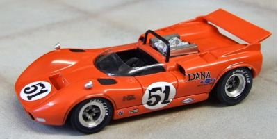 Marsh Models MM283B51 McLaren M1C #51 Dana Chevrolet Racing 'Bob Bondurant' 2nd pl USRRC Riverside 1967