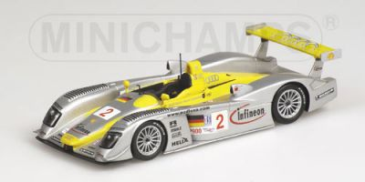 Minichamps 400021392 Audi R8 #2 'Rinaldo Capello - Christian Pescatori - Johnny Herbert' winner 12 hrs of Sebring 2002