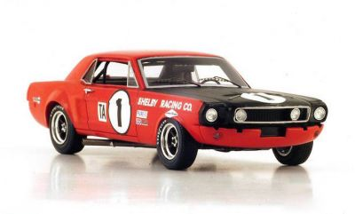 "Spark Model S2633 Ford Mustang #1 Shelby Racing ""Jerry Titus - Ronnie Bucknum"" 1st pl Trans-Am cl. Daytona 24 Hrs 1968"