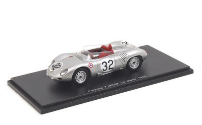 Spark Model S4677 Porsche 718 RSK #32 'Hans Herrmann - Umberto Maglioli' Le Mans 1959