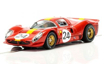 Scalextric C3892A Ferrari 330 P4 #24 driven by Willy Mairesse and Jean Blaton (Jean Beurlys)