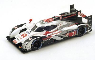 """Spark Model 18LM14 Audi R18 e-tron quattro #2 Audi Sport Team Joest """"Andre Lotterer - Marcel Fassler - Benoit Treluyer"""" Winner Le Mans 2014"""