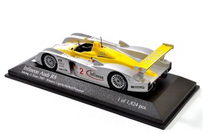 Minichamps 400021392 Audi R8 #2 'Rinaldo Capello - Christian Pescatori - Johnny Herbert' winner 12 hrs of Sebring 2002