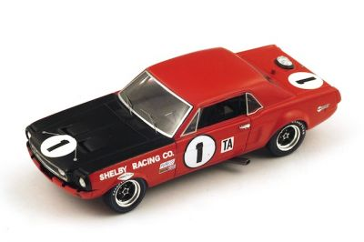 "Spark Model S2633 Ford Mustang #1 ""Jerry Titus - Ronnie Bucknum"" 4th pl. oa, 1st pl Trans-Am cl. Daytona 24 Hours 1968"