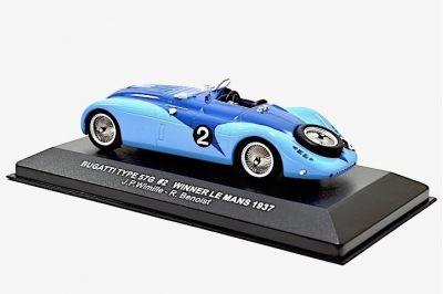 IXO Models LM1937 Bugatti 57G #2 'Jean-Pierre Wimille - Robert Benoist' winner Le Mans 1937