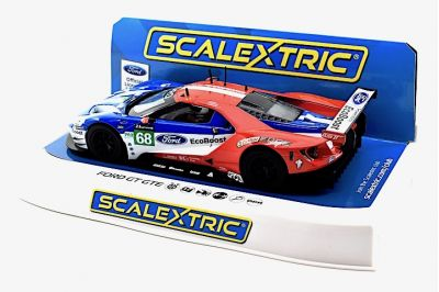 Scalextric C3857 Ford GT IMSA #68 Ford Chip Ganassi Team USA 'Joey Hand - Dirk Müller - Tony Kanaan' 23rd pl oa Le Mans 2017