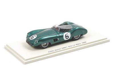 Spark Model S2439 Aston Martin DBR1 #6 'Maurice Trintignant - Paul Frère' 2nd pl Le Mans 1959