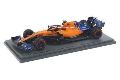 Spark Model S6082 McLaren MCL34 #55 'Carlos Sainz Jr.' Australian Grand Prix 2019
