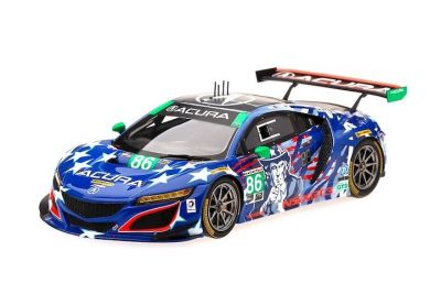 "TSM-Model TSM430384 Acura NSX GT3 Michael Shank Racing #86 ""Uncle Sam"" 'Jeff Segal - Oswaldo Negri' IMSA Championship Watkins Glen 2017"