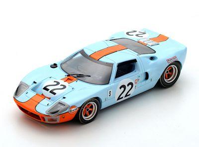 Spark Model 43SE69 Ford GT40 Gulf #22 'Jacky Ickx - Jackie Oliver' winner 12 hrs of Sebring 1969