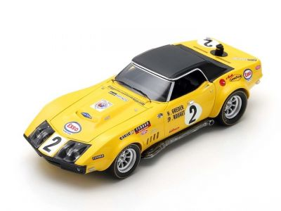 Spark Model S2949 Chevrolet Corvette #2 'Henri Greder - Jean Pierre Rouget' Le Mans 1970