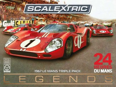 Scalextric C3892A Legends 1967 Le Mans Triple Pack