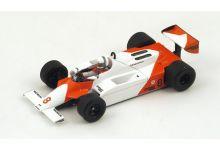 "Spark Model S4301 McLaren MP4/1 #8 ""Andrea De Cesaris"" GP of Monaco 1981"