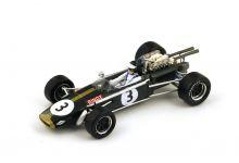 "Spark Model S4337 Brabham BT24 #3 ""Jochen Rindt"" 3rd pl South African Grand Prix 1968"
