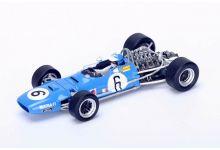 "Spark Model S1588 Matra MS10 #6 ""Jean-Pierre Beltoise"" 5th pl Spanish GP 1968"