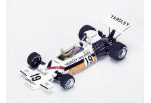Spark Model S4295 McLaren M19C #19 Yardley 'Peter Revson' 2nd pl Canadian Grand Prix 1972