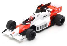 Spark Model S5395 McLaren MP4-2 TAG-Porsche #8 'Niki Lauda' winner British Grand Prix & World Champion 1984