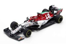 Spark Model 6097 Alfa Romeo Racing Sauber F1 Team C38 #7 'Kimi Räikkönen' Italian GP 2019Spark Model 6097 Alfa Romeo Racing Sauber F1 Team C38 #7 'Kimi Räikkönen' Italian Grand Prix 2019