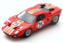 Spark Model S2773 Ford GT40 Alan Mann Racing #25 'John Whitmore - Frank Gardner' DNF 12 hrs of Sebring 1966