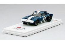 TrueScale Miniatures TSM144320 Chevrolet Corvette Grand Sport Coupe #2 'AJ Foyt - John Cannon' 23rd pl oa 12 hrs of Sebring 1964