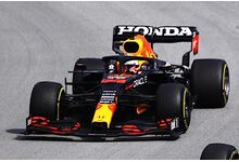 Spark Model S7674 Red Bull Racing Honda RB16B #33 'Max Verstappen' Red Bull Racing 2nd pl Spanish GP 2021 (100th GP with Red Bull Racing)