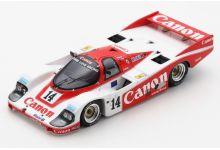 Spark Model S9864 Porsche 956 #14 Canon 'Jonathan Palmer - James Weaver - Richard Lloyd' 2nd pl Le Mans 1985
