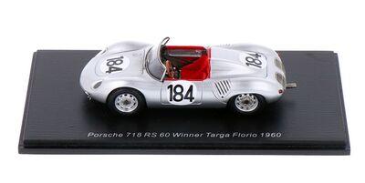 Spark Model 43TF60 Porsche 718 RS 60 #184 'Jo Bonnier - Hans Herrmann' Winner Targa Florio 1960