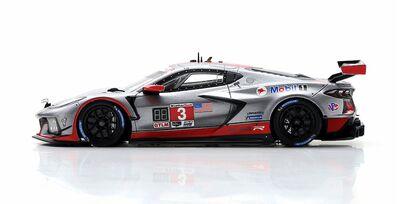 TSM Model TSM430564 Chevrolet Corvette C8.R #3 Corvette Racing 'Nicky Catsburg - Antonio García - Jordan Taylor' 11th pl IMSA 12Hrs of Sebring 2021