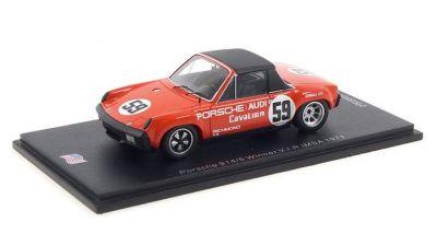 Spark Model US081 Porsche 914/6 GT #59 'Peter Gregg - Hurley Haywood' Winner V.I.R. IMSA 1971