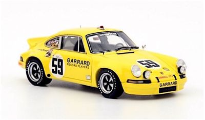 Spark Model 43SE73 Porsche Carrera 911 RSR #59 'Peter Gregg - Hurley Haywood - Dave Helmick' winner Sebring 1973