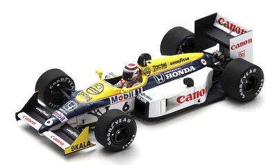 Spark Model S7483 Williams Honda FW11B #6 'Nelson Piquet' winner Hungarian GP & F1 World Champion 1987