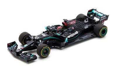 Spark Model S6487 Mercedes-AMG Petronas Formula One Team F1 W11 EQ Performance #63 'George Russell' 9th pl Sakhir GP 2020