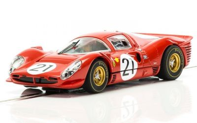 Scalextric C3892A Ferrari 330 P4 #21 driven by Ludovico Scarfiotti and Mike Parkes
