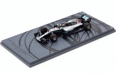 Spark Model S6068 Mercedes-AMG Petronas F1 W09 EQ Power+Motorsports #44 'Lewis Hamilton' Winner Abu Dhabi GP & F1 Driver Champion 2018