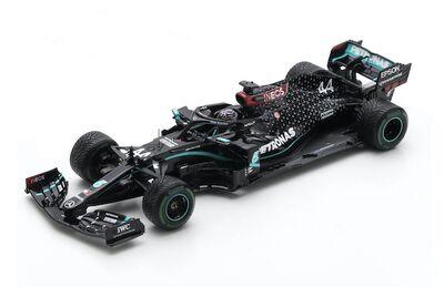 Spark Model S6488 Mercedes-AMG Petronas F1 W11 #44 'Lewis Hamilton' Winner Turkish GP 2020 World Champion Edition w/ Pit Board
