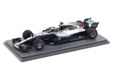 Spark Model S6067 Mercedes-AMG Petronas F1 W09 EQ Power+Motorsports #44 'Lewis Hamilton' 4th pl Mexican GP & F1 Driver Champion 2018