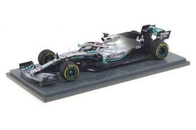 Spark Model S6071 Mercedes-AMG Petronas W10 #44 'Lewis Hamilton' Winner Grand Prix of China & F1 World Champion 2019