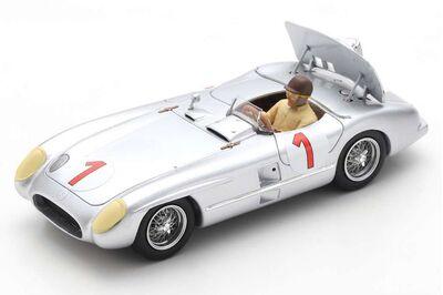 Spark Model S5858 Mercedes-Benz 300 SLR #1 'Juan Manuel Fangio' Winner Swedish Grand Prix at Kristianstad 1955