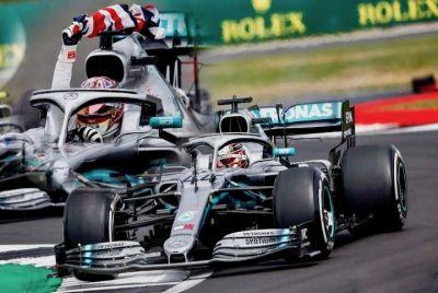 Spark Model 18S464 Mercedes-AMG Petronas Motorsports F1 Team #44 'Lewis Hamilton' Winner British Grand Prix 2019