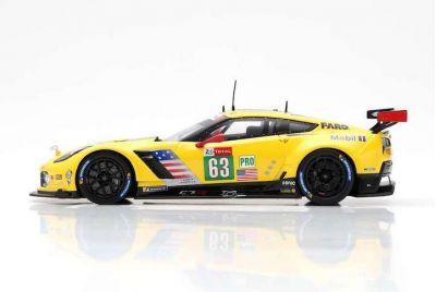 Spark Model S7030 Chevrolet Corvette C7R #63 'Jan Magnussen - Antonio Garcia - Mike Rockenfeller' 5th pl GTE Pro cl Le Mans 2018